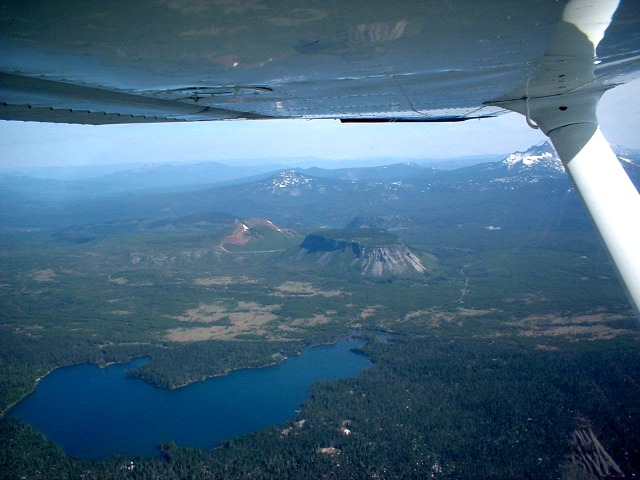 Big Lake, Hayrick Butte, Hoodoo Butte, and Three Fingered Jack